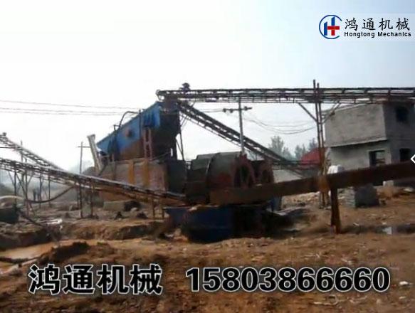 砂石线生产现场_制砂_洗沙生产线视频